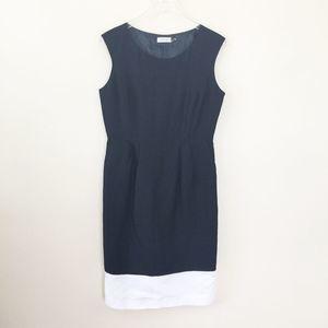 Calvin Klein Color Block Sleeveless Shift Dress 10